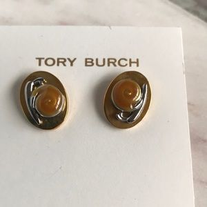New Tory Burch snail stud earrings